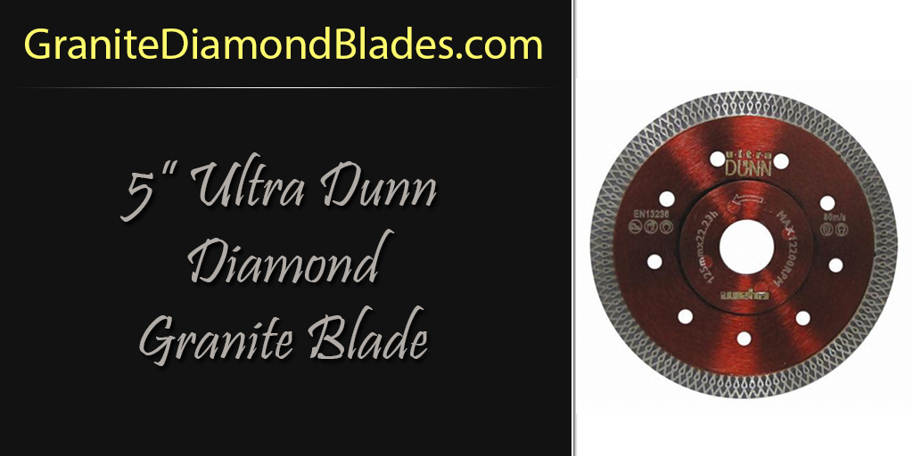 5 inch diamond granite blade