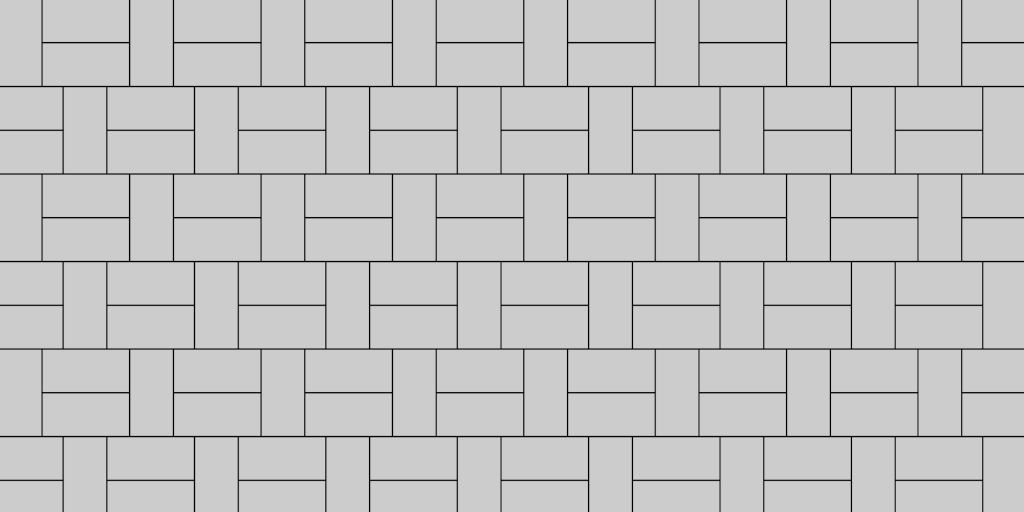 One by Two Basket Weave Pattern