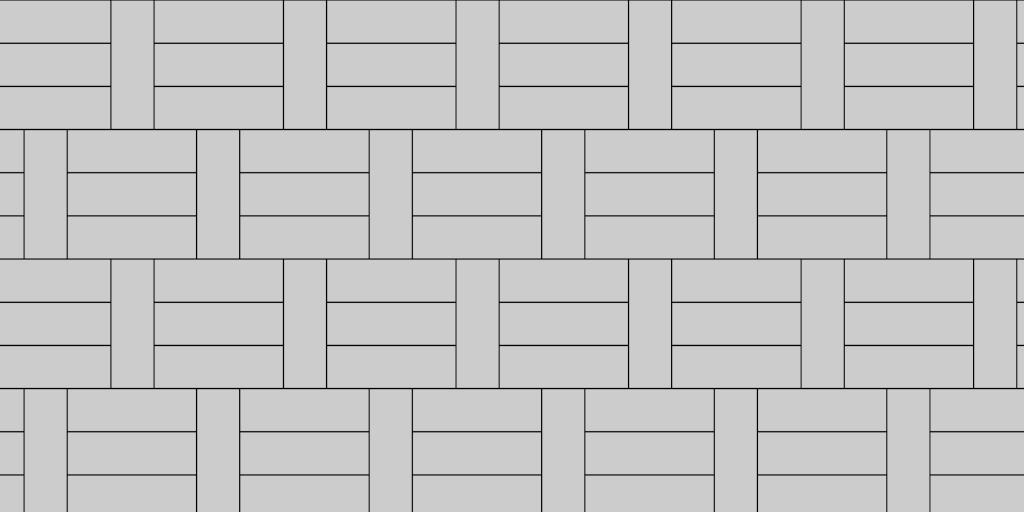1:3 Basket Weave Paver Pattern