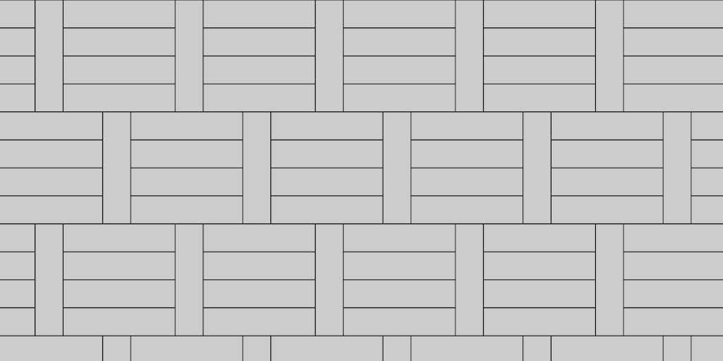 Patio Paver Pattern 1:4 Basket Weave
