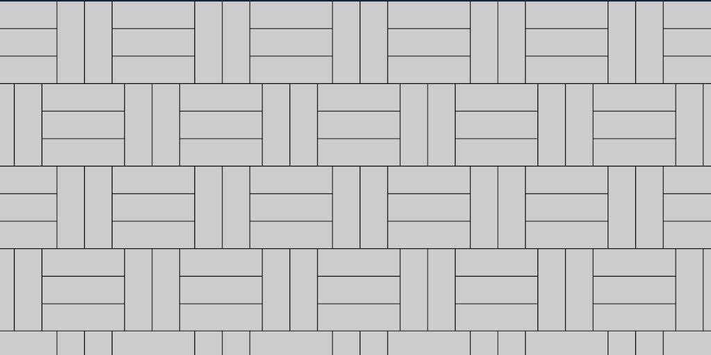 Basket Weave 2:3 Patio Paver Pattern