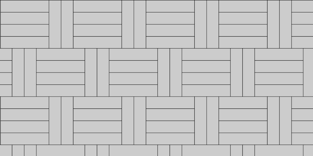 Paver Patio Pattern Basket Weave 2:4