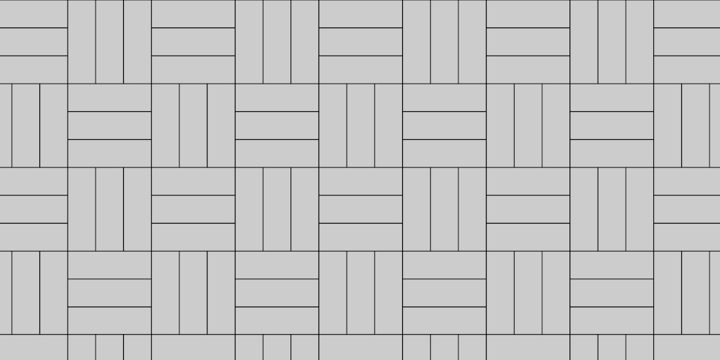Patio Paver 3:3 Basket Weaver Pattern