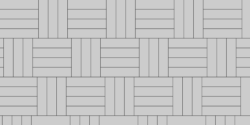 Basket Weave 3:4 Patio Paver Example
