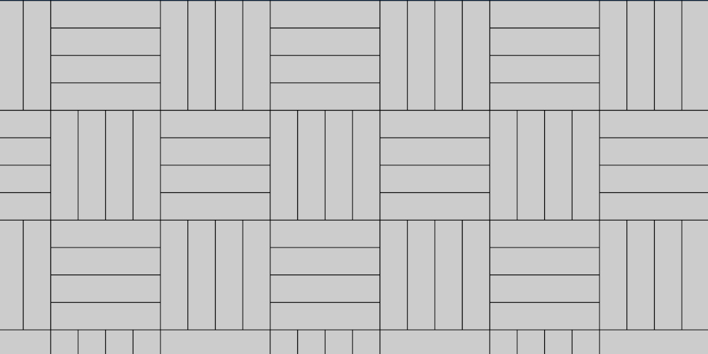 Basket Weave 4:4 Paver Patio Pattern Example
