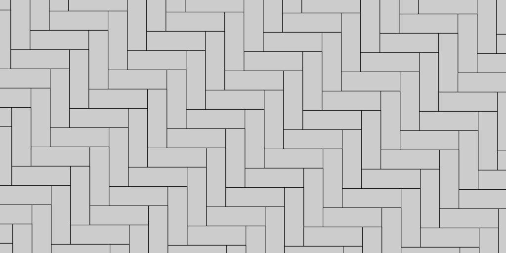 1:1 Herringbone Patio Paver Pattern
