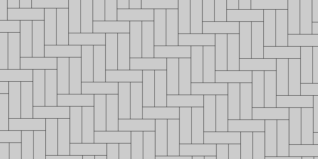 1:2 Herringbone Patio Paver Pattern