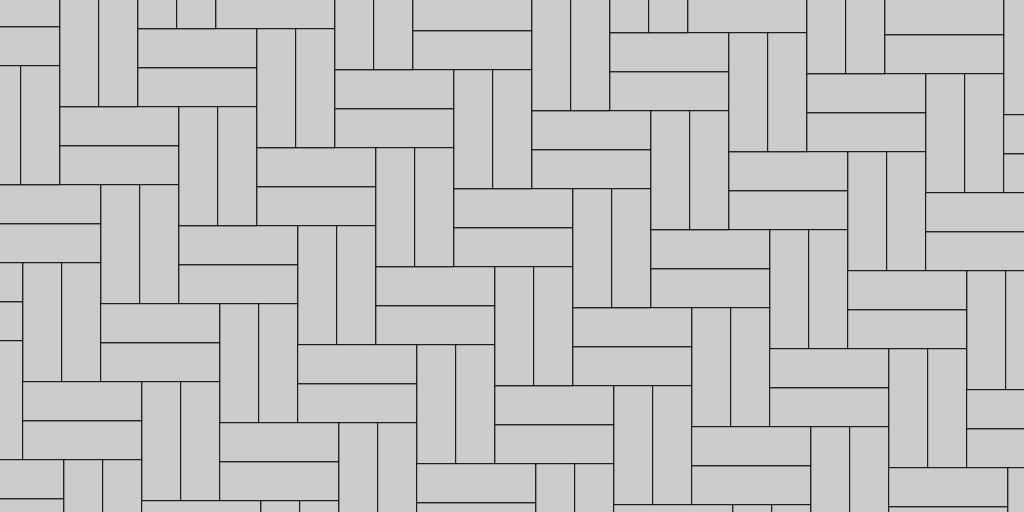 2:2 Herringbone Paver Patio Pattern Example