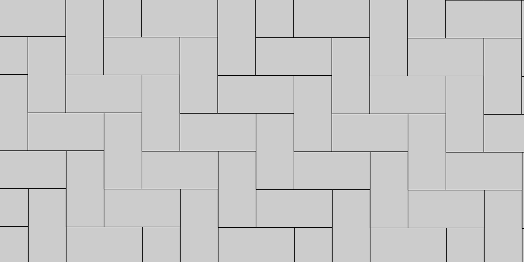 90 Degree Herringbone Paver Patio Pattern Example