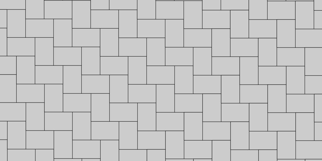 Basic Herringbone Paver Patio Pattern Example