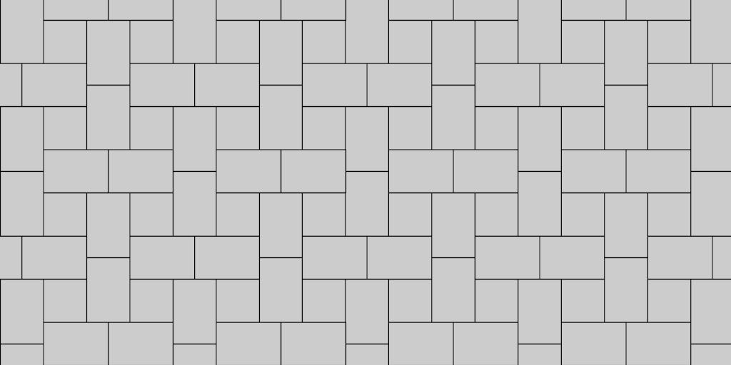 I Pattern (Muster K) Paver Patio Pattern